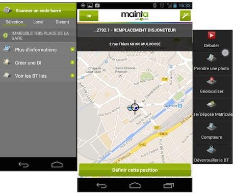 Mainta, une appli mobile de GMAO