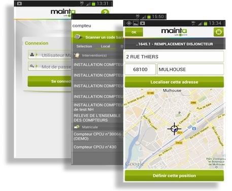 La géolocalisation avec l'application métier de GMAO Mainta